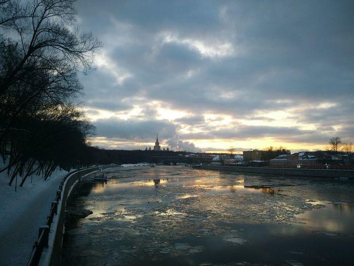 Water Reflection Cloud - Sky Lake Outdoors Sunset Sky