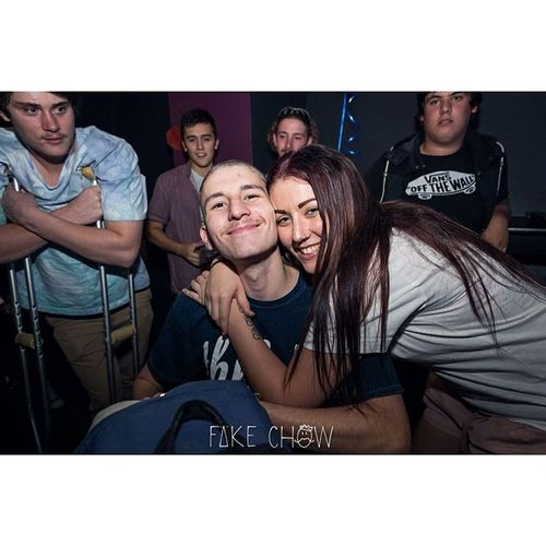Just me and ma biggest fan last night Worldsgreatestshave2014 Baldy Charlesxavier Hunny  fakechow dprox