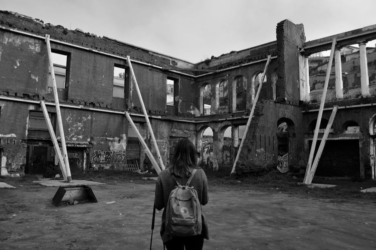 Architecture Black And White Building Built Structure Casual Clothing Day Deterioration Kankenbag Leisure Activity Lifestyles Outdoors Ruins Architecture Ruins Of A Castle Sky Valparaiso, Chile