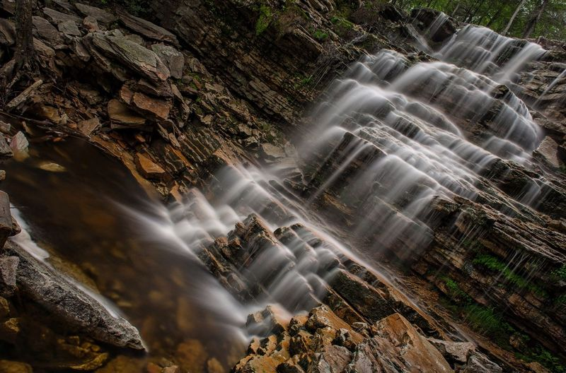 The Great Outdoors With Adobe Rock Rock - Object Rock Formation Rocks Nature Forest Motion Flowing Water Tranquility Outdoors Full Frame Destination Tourism Waterfall
