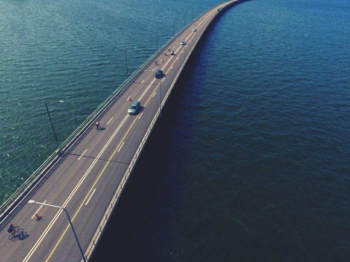 Ironman Bicycle TRIATHLON Aerial View Bridge Over Water Transportation DJI Phantom 3 Birdview The Sky Is The Limit Island Stunning_shots Water High Angle View Landscape Architecture