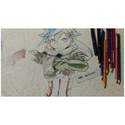 GGO, wip from years ago. i decided to finish it 😂😁 Sao2 Gungaleonline Sinon Anime