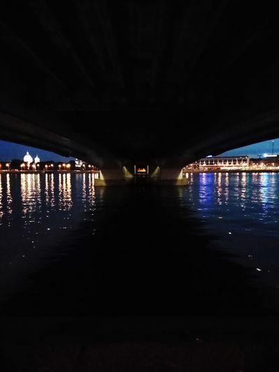 Bridge City Cityscape Water Illuminated Bridge - Man Made Structure River Reflection Architecture Built Structure Sky