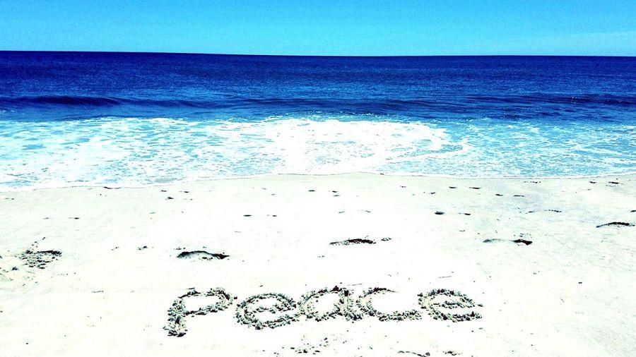 Peaceful Peace Beach Blue Sea Ocean View Sand Love
