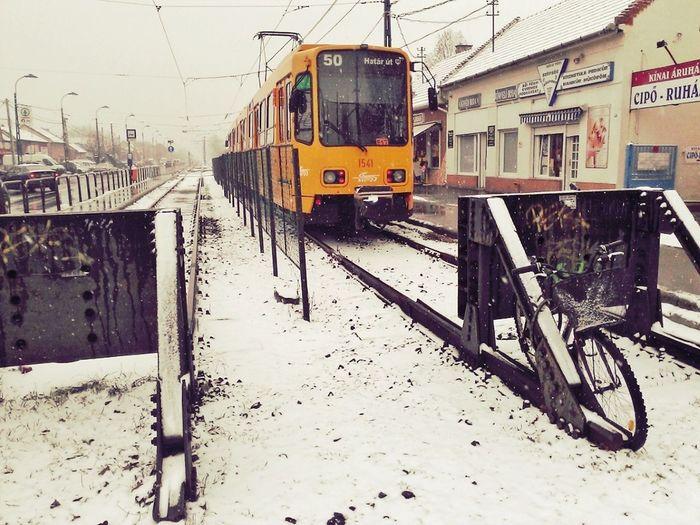 Winter At Pestszentlőrinc, Budapest, Hungary