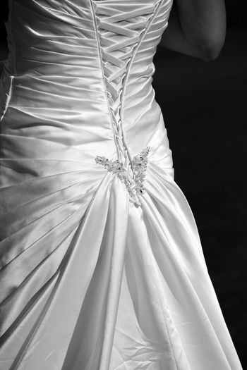 Black And White Bride Close-up Day Dress Holding Human Body Part Human Hand Indoors  Low Section Midsection One Person People Real People Tying Wedding Wedding Day Wedding Dress Wedding Dresses Women