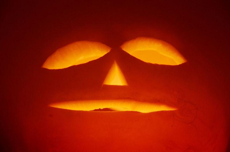 Carved Vegetable Celebration Face Glowing Halloween Happy Halloween Jack-o-lantern Orange Rutabaga Tradition