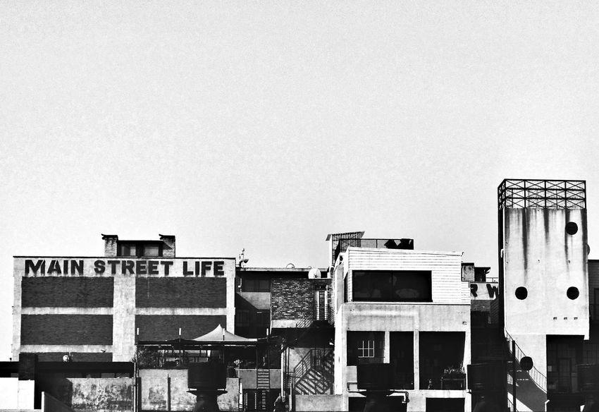 Monochrome Photography Architecture Johannesburg Maboneng Precinct Art Built Structure Clear Sky Street Life Embrace Urban Life