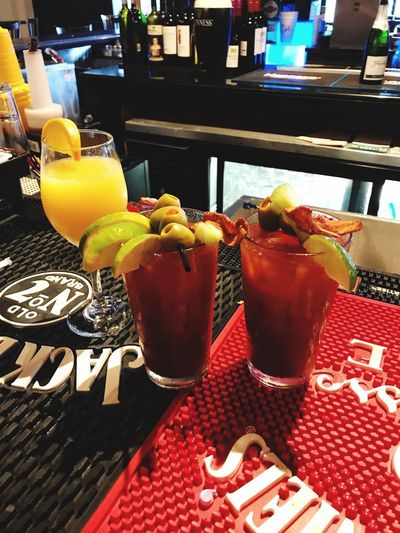 Sunday funday for the win SundayFunday Mimosa Bloody Marys Freshness No People Close-up Cocktail
