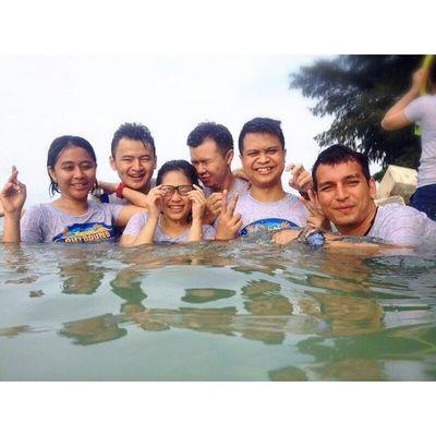 Splash... :-D Transtv  Thousandisland PulauGentengKecil Facilities Division HappyDay