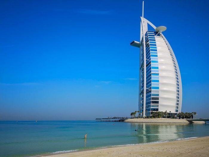 Burj Al Arab EyeEm Selects City Water Nautical Vessel Sea Clear Sky Cityscape Beach Blue Skyscraper Urban Skyline