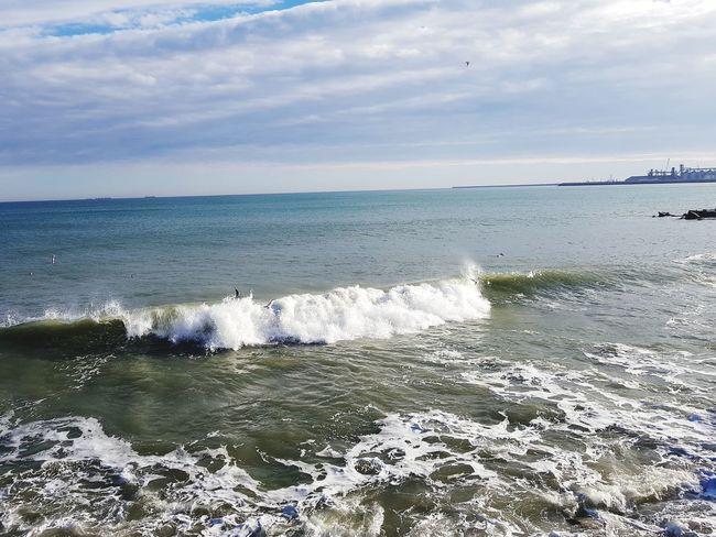 Waves Beach Sea Sand Water Horizon Over Water Sky Cloud - Sky EyeEmNewHere