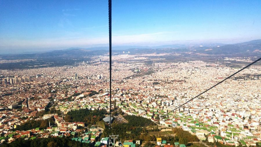 Bursa Sky Tree No People Cityscape City Day Teleferic View