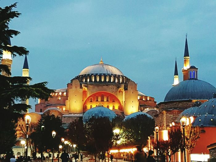 Hagiasophia  Hagia Sophia Istanbul Turkey Dome City Night Architecture Cityscape Landscape Outdoors Icon Art Church Bizantium Konstantinopolis Konstantin Sultanahmet History History Museum  Historical Building Museum Civilization Culture