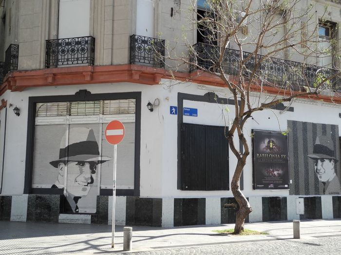2011 Walls Streetart Carlosgardel Buenosaires Streetphotography Architecture Building Exterior Day City Building Street Road