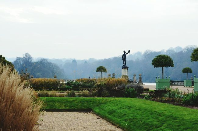 Tree Grass Agriculture No People Outdoors Nature Spraying Day Beauty In Nature Water Italian Garden Autumn Perseus With The Head Of Medusa Perseus Trentham Gardens Sky