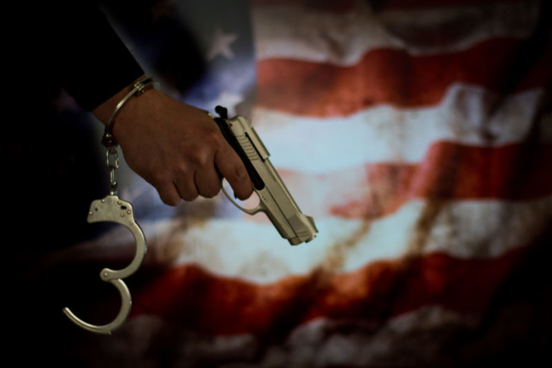 America USA American Flag Bribe Murder Prisoner Escape Handcuffs  Justice Law Prison Thief Justice - Concept Legal Trial Judge - Law Security Bar Legal System Pistol Prison Cell Hostage Lawyer Heroin Bullet Police Station