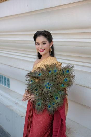 Beautiful thai woman in thai costume