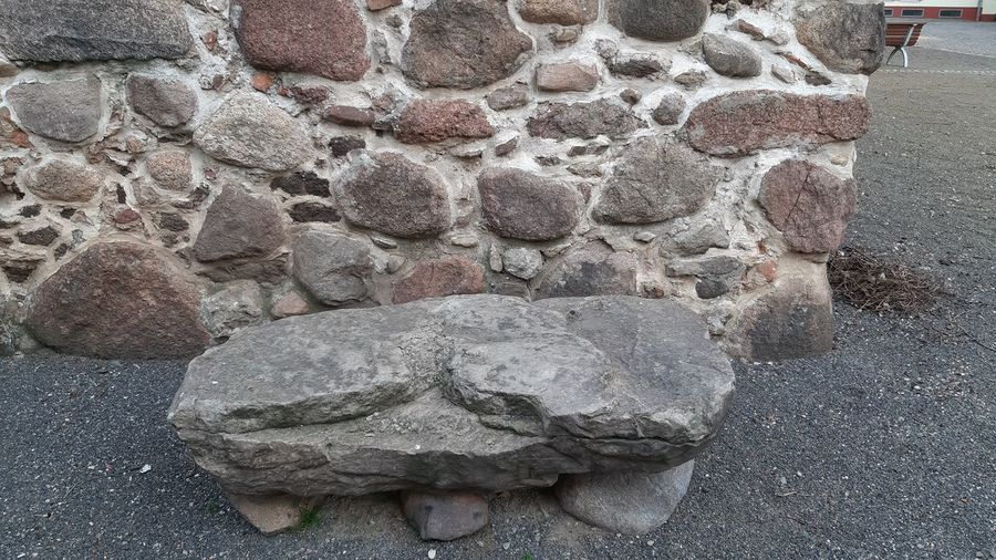 stone bench in