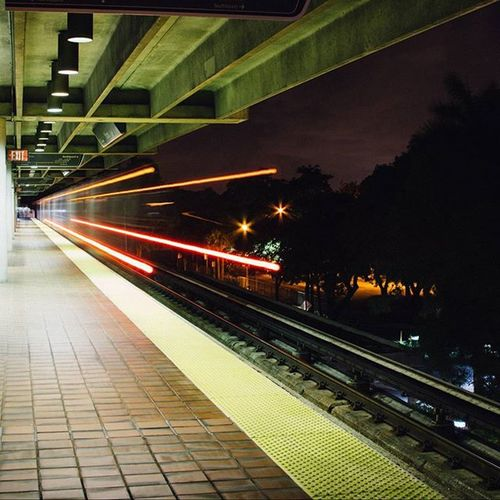 35mm Film Vintage Miami Florida Train Metro Transportation Longexposure Long Exposure HUAWEI Photo Award: After Dark