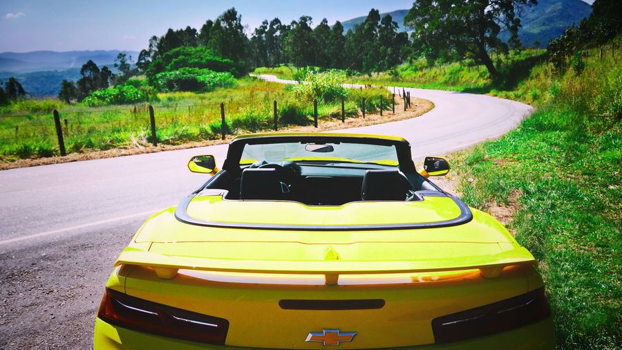 Camaro Curve Fun Open Edit Road Camaro, Yellow, Chevrolet Chevrolet Convertible Car Yellow
