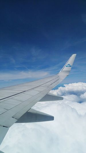 Sky Sky And Clouds KLM Flying Travel Tourism Holiday Airplane Airline