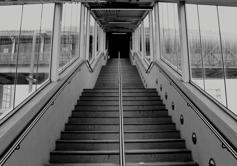 Hanging Out Taking Photos Blackandwhite Streetphotography Stairs Staircase Gotransit Pickering Street Photography Symmetry Symmetrical