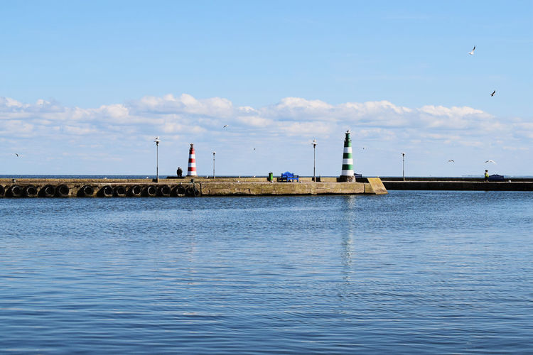 Day Sky Water Business Finance And Industry Cloud - Sky Outdoors Nature Industry Scenics Architecture No People Sea Bird Clear Sky Summer Nature Landscape Blue Tranquility Lithuania Nature <3 Tranquil Scene Lighthouses