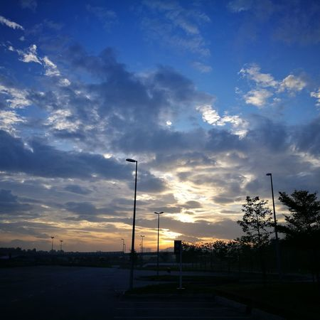 Panorama Dramatic Sky Cloud - Sky Nature Beauty In Nature Morning Sky Sunset Dusk Silhouette Sky Road Sign No People Scenics Outdoors Day