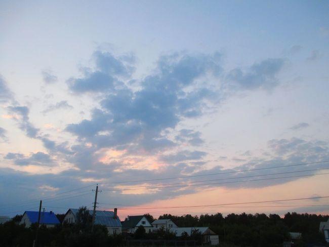 деревня No People Evening вечер дорогадомой прекрасный вечер наедине с природой небо облака