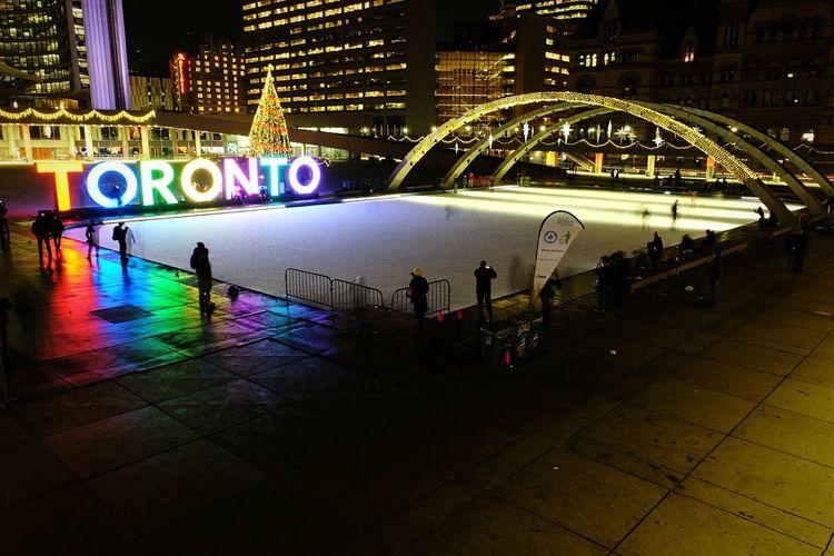 Skating in Toronto Skating Rink Hanging Out TorontoLife Toronto Christmas Lights Tistheseason