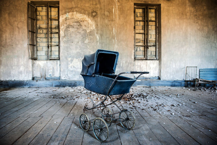 Abandoned Baby Stroller