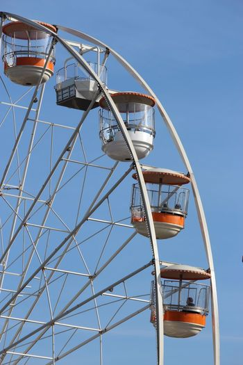 Bradford EyeEm Selects Arts Culture And Entertainment Clear Sky Amusement Park Ride Blue Low Angle View Leisure Activity Day Childhood Ferris Wheel Sky Outdoors