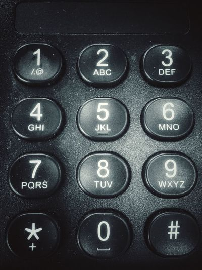 Keypad on a telephone Dial Numerical Numbers Keypad Keys Button Buttons Backgrounds Indoors  Full Frame Communication No People Technology Close-up