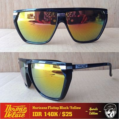 Hurricane Sport. Black/yellow . Throne39 Fall Catalogue Sunglasses eyeglasses . Online order to : +62 8990 125 182.