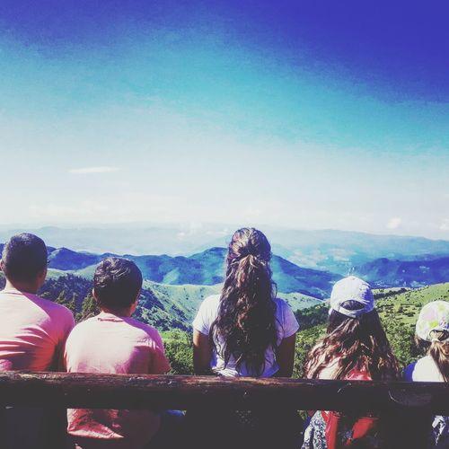 children #photography #Mountain #Nature  #EyeEm #love #view #sky Relaxing #children #beautiful #bench #EyeEmNewHere #serbia # Mountain Blue Sky