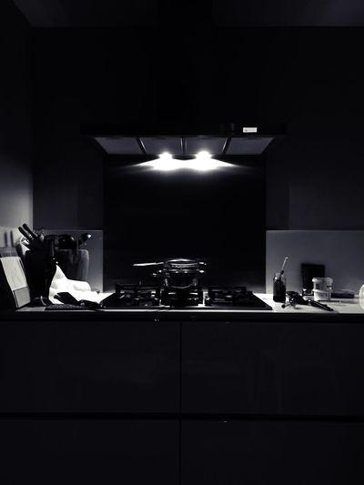 Kitchen Blackandwhite Monochrome Interior Light And Shadow