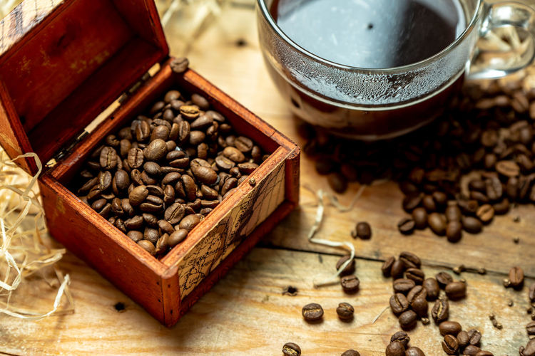 coffee in the morning High Angle View Roasted Coffee Bean Drink Close-up Food And Drink Raw Coffee Bean Coffee Bean Coffee Crop Caffeine Coffee Ground Coffee