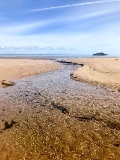 Scottish Beaches East Lothian Scotland Land Sea Water Beach Sky Beauty In Nature Sand Scenics - Nature Tranquility Tranquil Scene Nature No People Day Cloud - Sky Horizon Over Water Non-urban Scene Idyllic Outdoors Horizon Low Tide