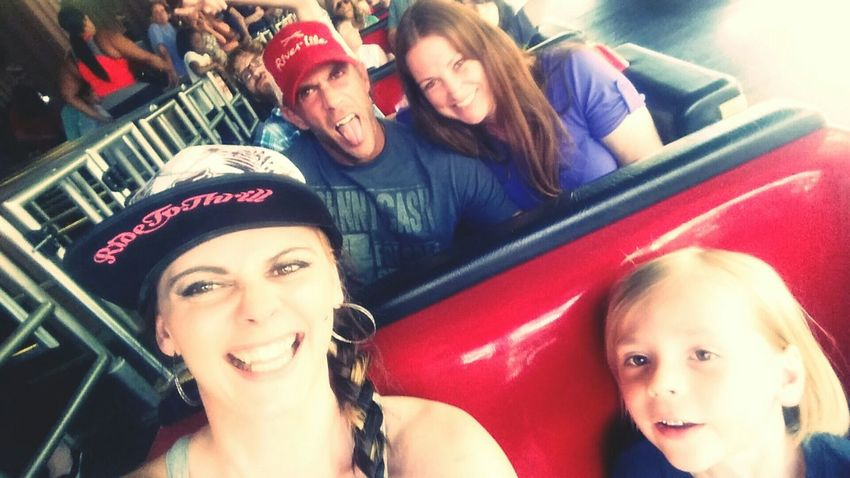 Family❤ Long Lines Roller Coaster Enjoying Life Sixflags Adventures Themepark Taking Photos Mine
