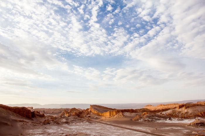 Adventure Atacama Atacama Desert Chile Cloudy Desert Horizon Over Land Landscape Nature No People Outdoors Sky Tranquility Peopleandplaces