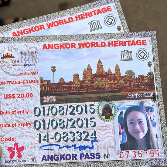 Pass to get into Angkor wat! Holiday Angkor Wat Siemreap Cambodia Soaking Up The Sun On A Holiday Vacation Time Starting A Trip Check This Out Taking Photos
