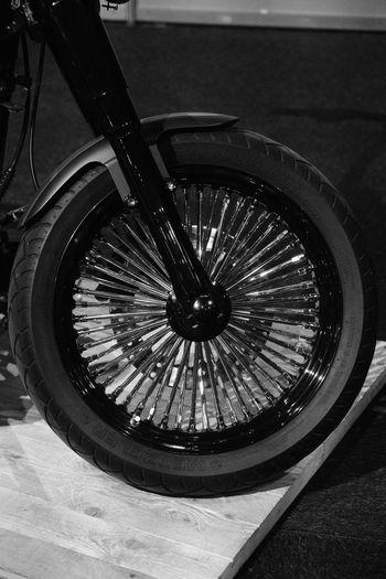 High angle view of wheel