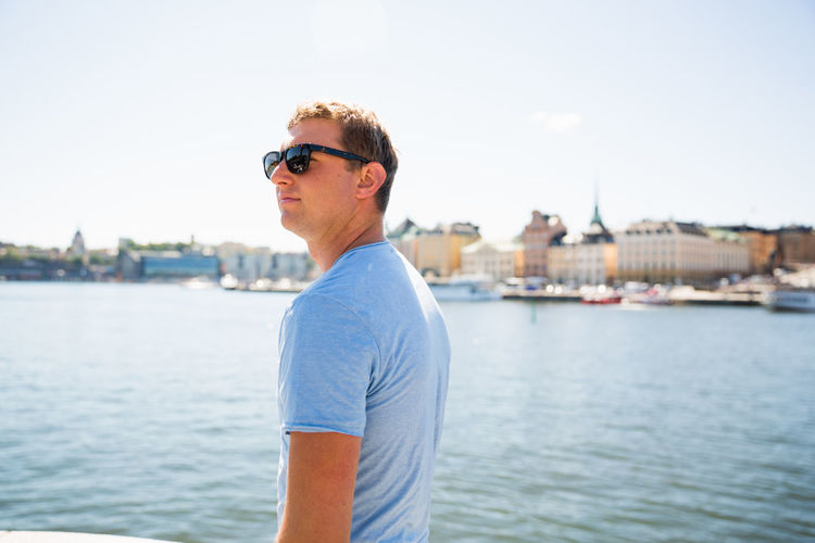 Europe Trip Stockholm Stockholm, Sweden Sweden Tourist Travel Traveling Warm Day Day Europe Lifestyles One Person Outdoors Summer Sunglasses Water Young Adult Young Man