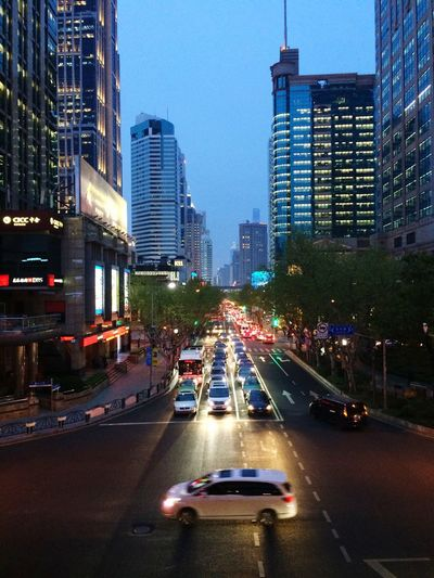 City city 夜幕降临