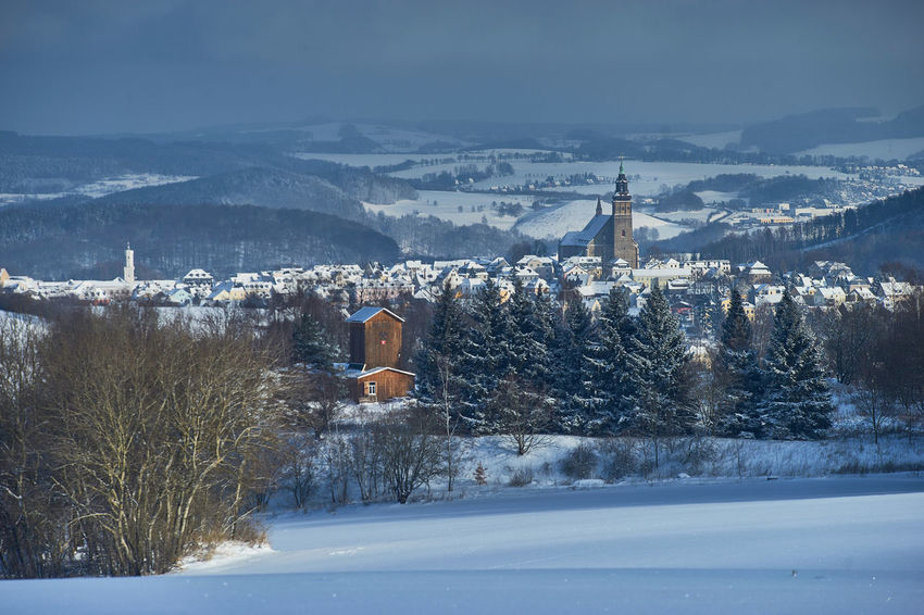Schneeberg Bergbaulandschaft Beustschacht Erzgebirge SONY A7ii Schneeberg Bergbaulandschaft Architecture Bare Tree Beauty In Nature Building Exterior Built Structure Cold Temperature Day Landscape Mountain Nature No People Outdoors Place Of Worship Religion Sachsen Scenics Schneeberg Sky Snow Snowdrift Snowing Spirituality Tranquility Travel Destinations Tree Weather Winter