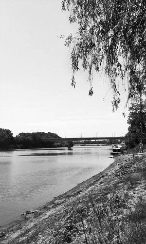 Szeged Tisza River Black And White Minimal Summer ☀