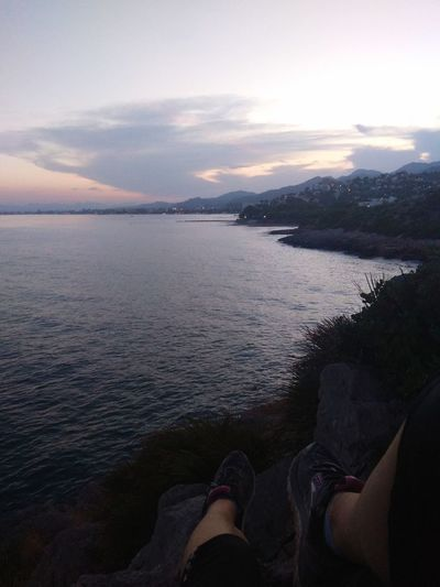 Afternoon running Low Section Water Sea Sunset Human Leg Shoe Cityscape Personal Perspective Sky Horizon Over Water Foot Calm Seascape Ocean Wave