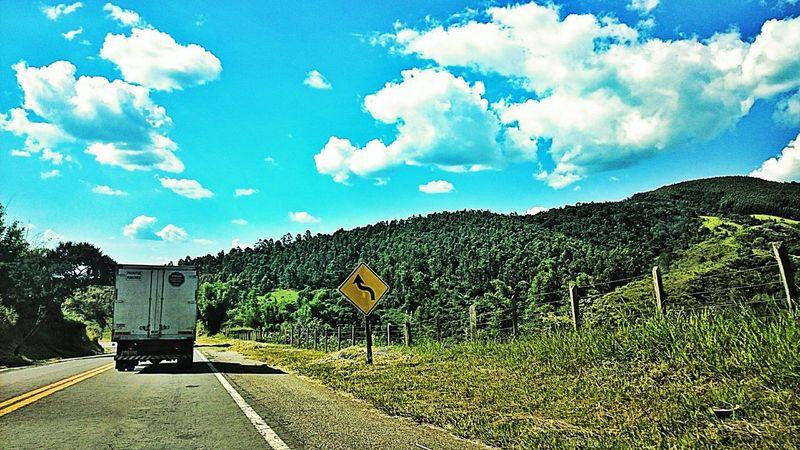 Road Landscape Montain  Trip Vacation Holiday Sun Cloud Roadtrip Curve