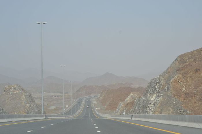 Sometime we seriously think where is our life taking us! Beauty In Nature Fujairah Mountain No People Outdoors Road Sky Special The Way Forward